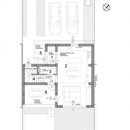 Kuća: Zadar-Arbanasi, 111, 61 m2 + vrt + krovna terasa – POGLED NA MORE