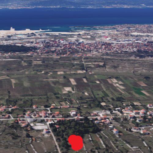 Građevinsko zemljište, Zadar-Crno, 1658 m2