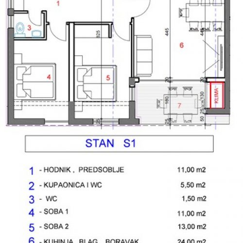 Stan: Zadar-Mocire, 74 m2, novogradnja OA-S1