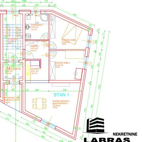 Stan: Vodice, 77 m2, novogradnja + 40 m2 vrt! S1