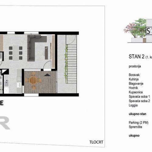 Stan: Zadar-Bulevar, 80 m2, novogradnja – 1. kat – S2