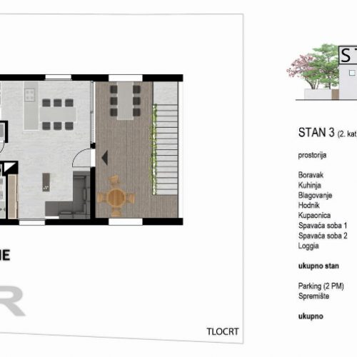 Stan: Zadar-Bulevar, 87,8 m2, novogradnja – 2. kat – S3