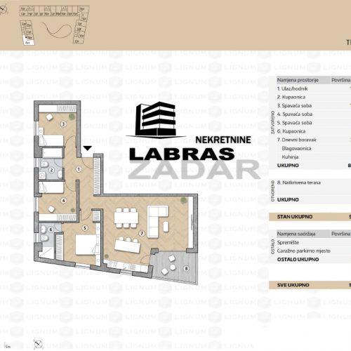 Novogradnja: Zadar-Belafuža, 99,31 m2 – APR