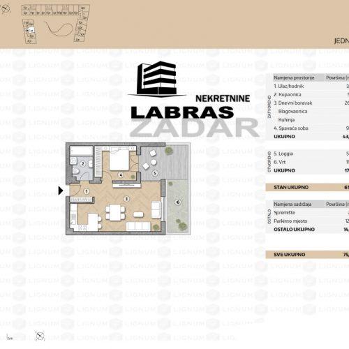 Novogradnja: Zadar-Belafuža, 53,89 m2 – CPR