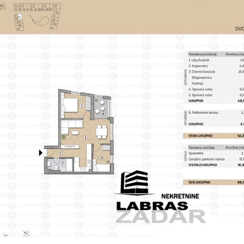 Novogradnja: Zadar-Belafuža, 86,05 m2 – G4