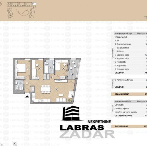 Novogradnja: Zadar-Belafuža, 98,75 m2 – R1