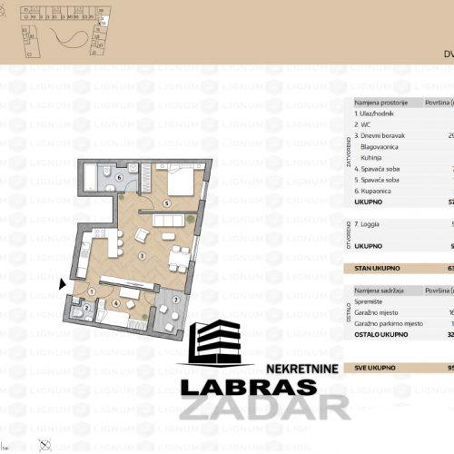 Novogradnja: Zadar-Belafuža, 79,77 m2 – S3