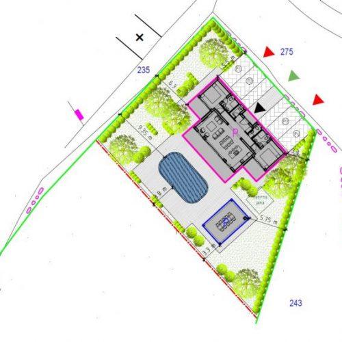 Građevinsko zemljište s projektom za villu, Poljica, 2272 m2