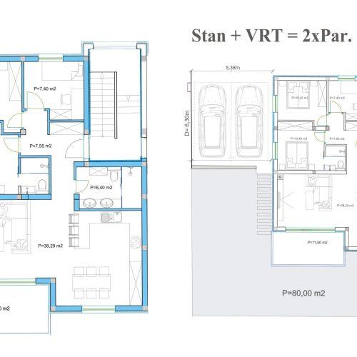 Stan: Zadar-Diklovac, 105,95 m2, novogradnja s vrtom S1