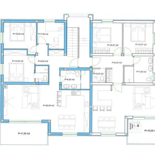 Penthouse: Zadar-Diklovac, 122,89 m2 – Krovna terasa – Pogled – S5