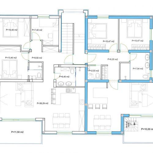 Penthouse: Zadar-Diklovac, 101,70 m2 – Pogled na more!!! – S6