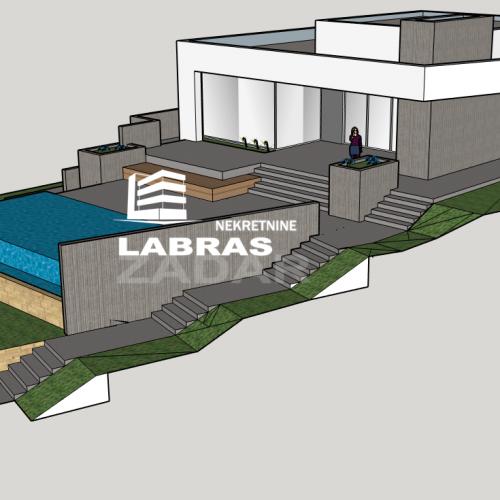 Građevinsko zemljište s idejnim projektom, Zadar-Plovanija, 1078 m2