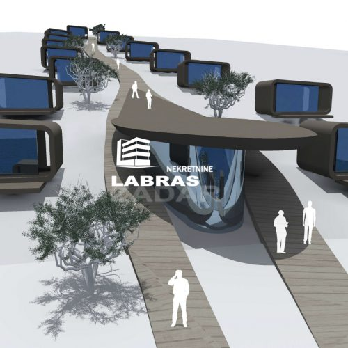 Građevinsko zemljište, Žman, 5412 m2 – Prvi red !!! – Projekt za Kamp