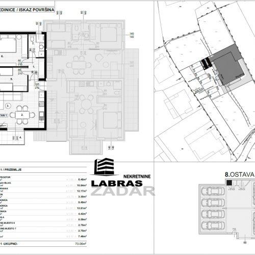 Stan: Zadar-Skročini, 73,06 m2, novogradnja s vrtom! – S1 – Z2