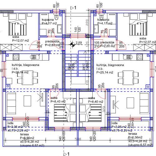 Stan: Turanj, 61,65 m2, novogradnja S4 Z1 – Blizina mora – Prvi kat!