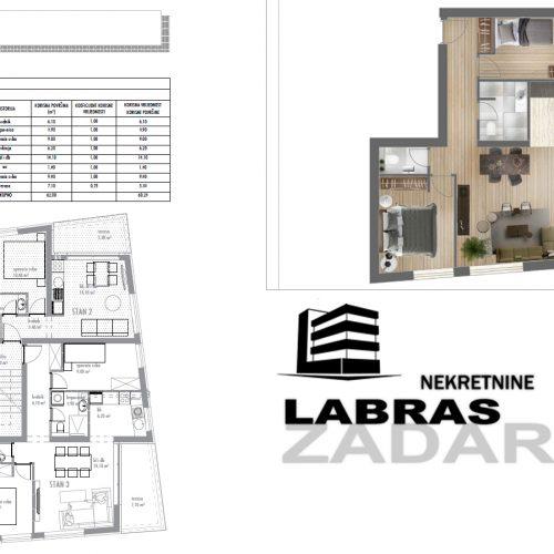 Stan: Zadar-Belafuža, 66,16 m2, novogradnja S3