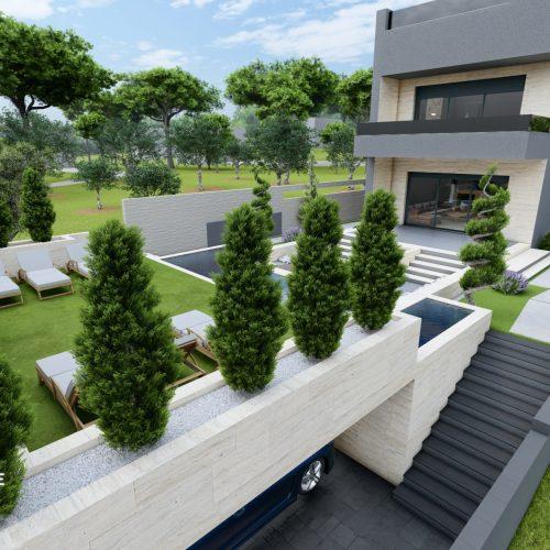 Villa: Kožino, 344 m2 – Drugi red – 3 bazena – komplet namještena – 6*